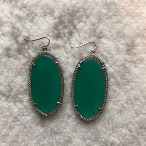 Kendra Scott green Danielle earrings